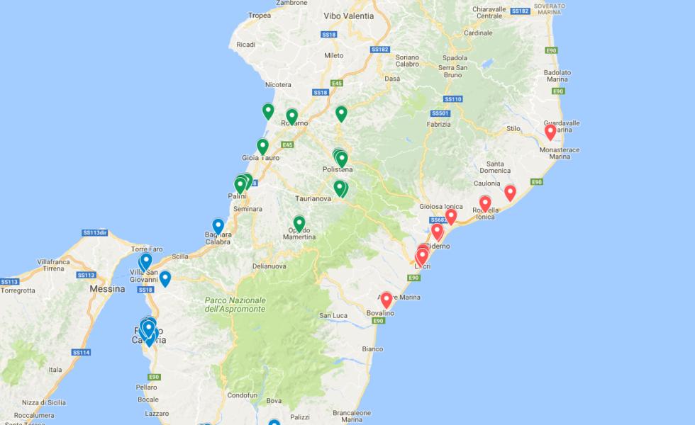 Mappa Ambito Scuole Secondarie Superiori Reggio Calabria